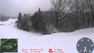 160123神鍋高原万場スキー場 下山コース