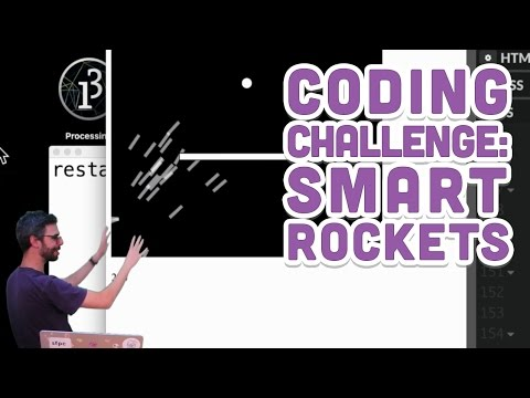 Coding Challenge #29: Smart Rockets in p5.js