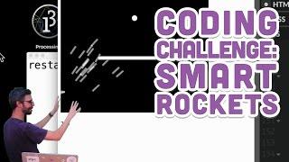 Coding Challenge #29: Smart Rockets in p5.js