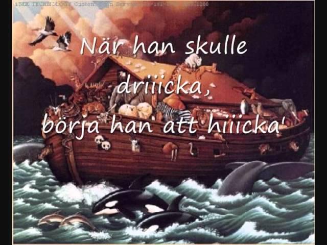 Gubben Noak (med text)