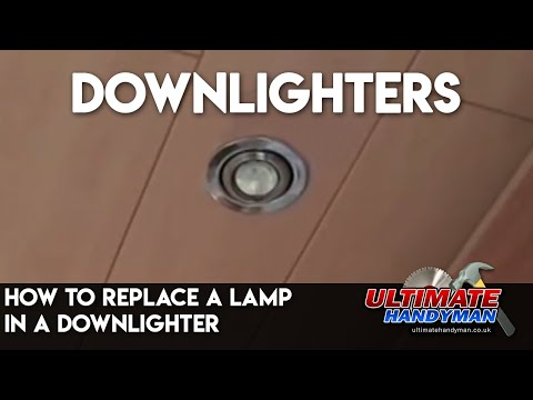 How to replace a lamp in a downlighter - YouTube