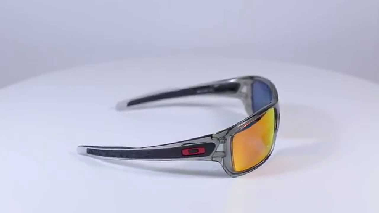 317ebe69f5 Oakley Turbine Grey Ink Ruby Iridium Polarized OO9263-10- gimpexsport.eu
