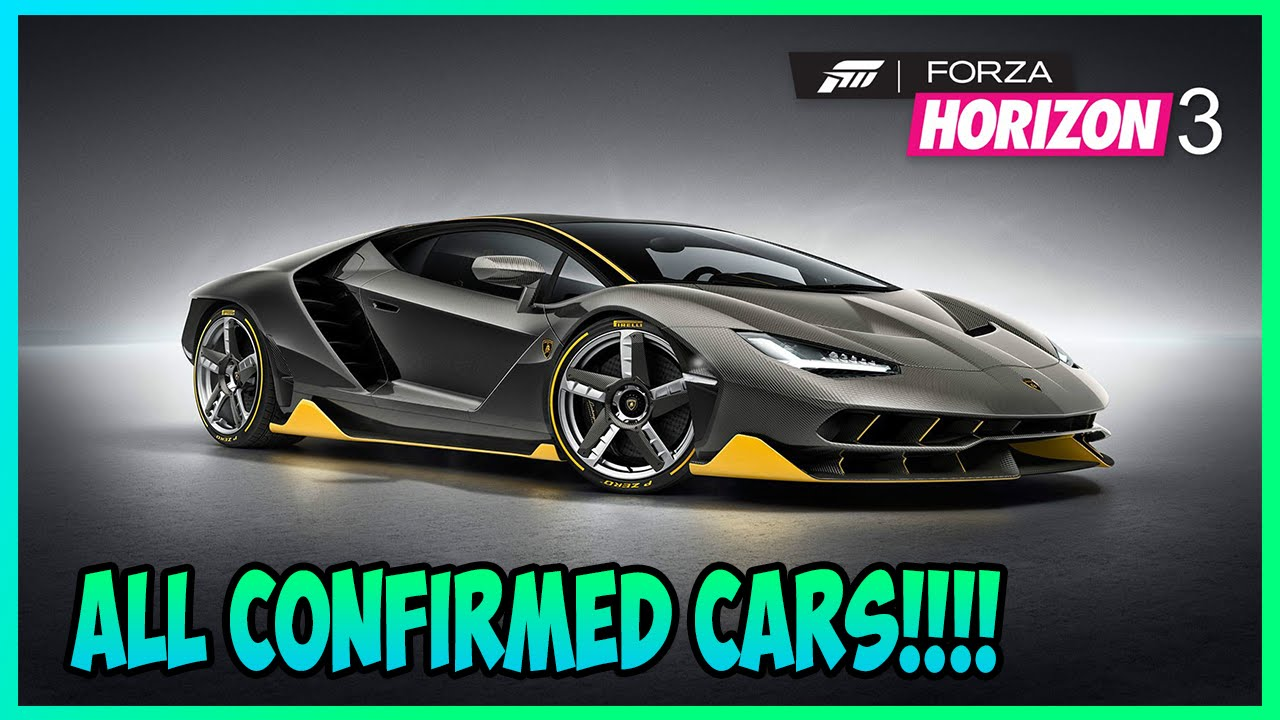 All Types all cars : FORZA HORIZON 3 ALL CARS (CADOIP) - YouTube