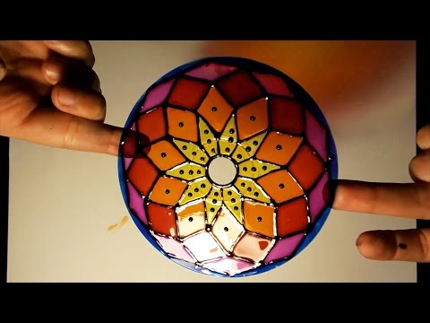 How to paint mandalas using old CDs
