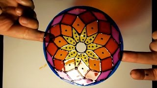 He ganado $5000 con este viejo CD!! Mandala vitraux #craft #DIY #recycle