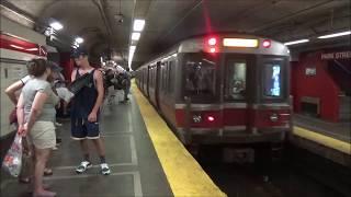 MBTA Boston Subway Red Line Rush Hour Compilation