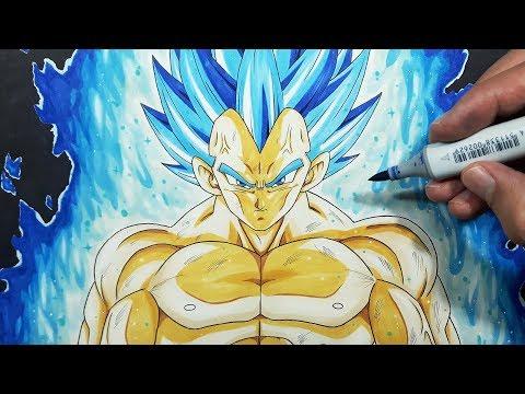 How To Draw Vegeta BEYOND Super Saiyan Blue! - Step By Step Tutorial!