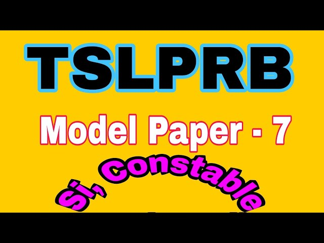 ??????? ??????? police - 7    constable, Si - prelims and mains    Model Paper - 7