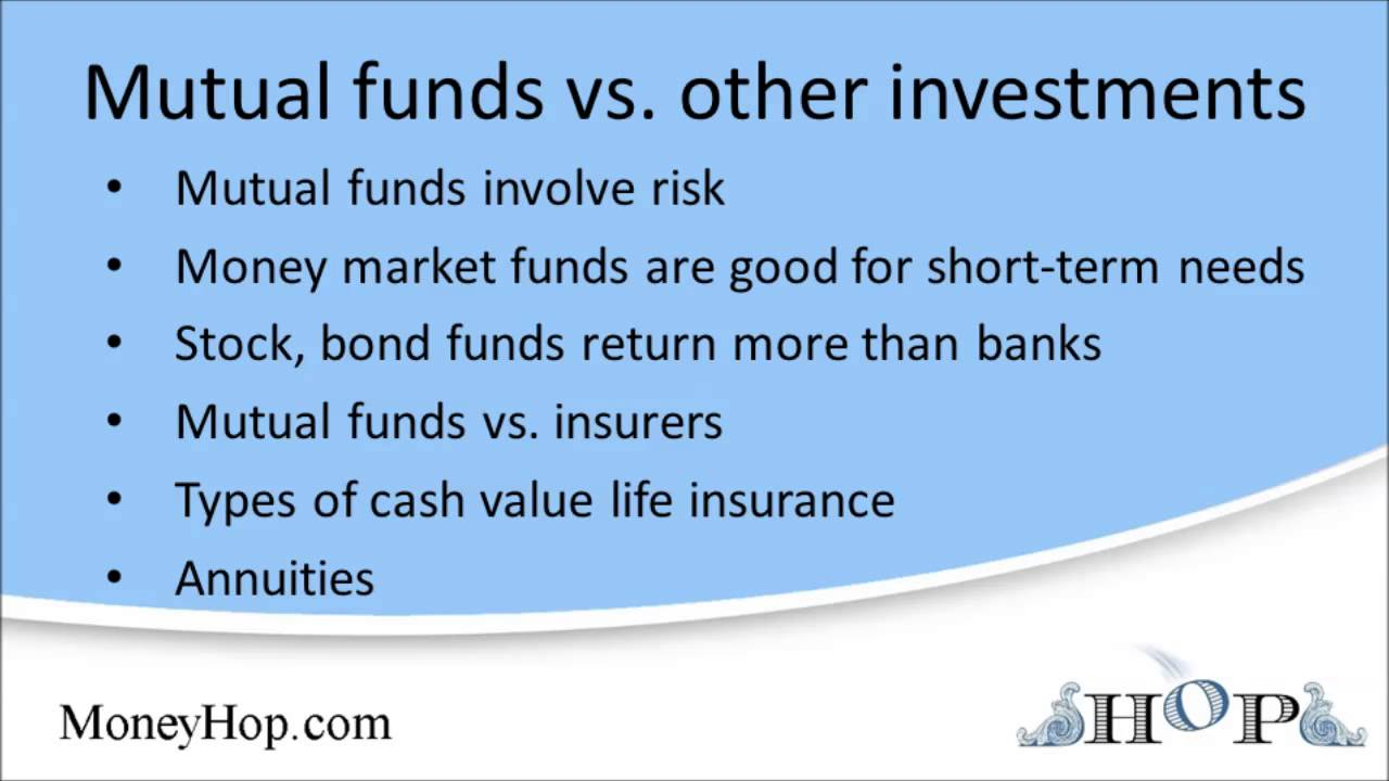 Money Market Vs Mutual Fund