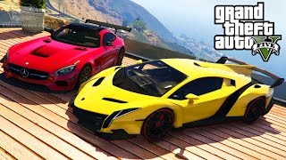 GTA 5 Car Mods #5 - Lamborghini Veneno, BMW i8, Mercedes-Benz AMG GT and More