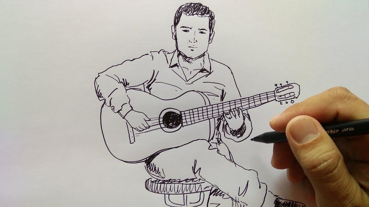 78+ Gambar Animasi Cowok Main Gitar Terlihat Keren