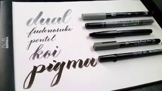 In my toolbox: A review of five brush calligraphy pens