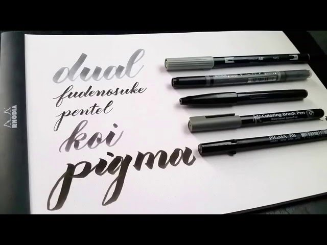 Review brush pen lettering by grace song creative calligraphy
