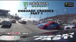 2017 Nascar Cup Series Onboard Crashes (Part 1)