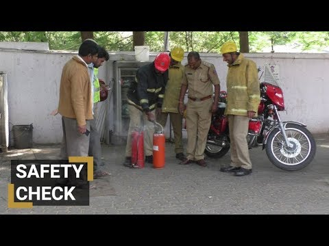 Fire safety checks at Hyderabad petrol pumps