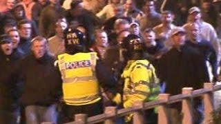 04/05 Leeds - Cardiff CCTV Leeds United Service Crew vs police
