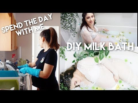 A Day In My Life | 37 Weeks Pregnant | DIY Milk Bath Photoshoot BTS