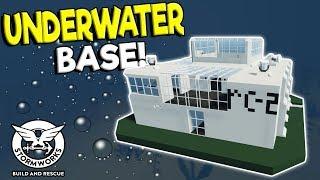 SINKING UNDERWATER BASE & UNDERWATER DINO FOSSIL?! - Stormworks: Build and Rescue Update Gameplay