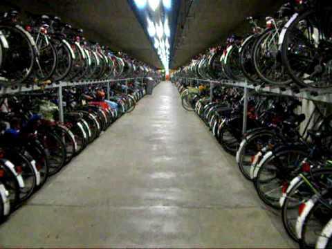 Utrecht Indoor Train Station Bike Parking Youtube