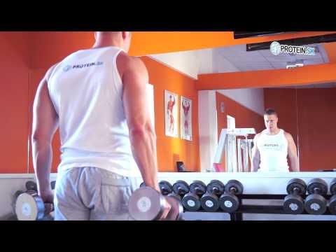 Cviky na biceps : Kladivový zdvih s jednoručkami - zásobník cvikov
