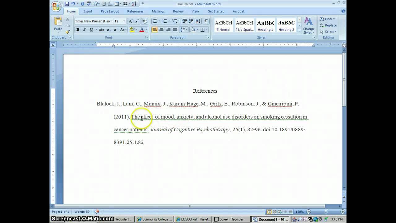 apa style reference list generator Apa referencing style guide  to cite works of others, apa style uses an author-date citation method citations in text are acknowledged with (author.