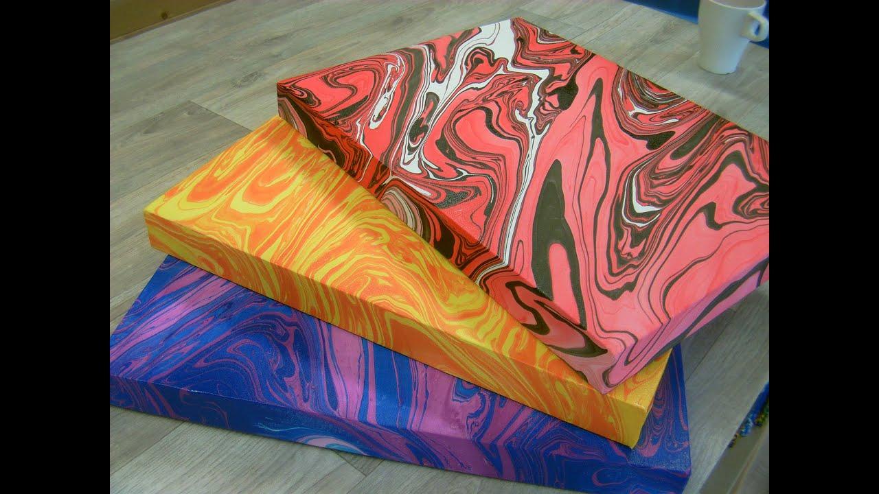 Swirling(Wall Canvas Swirled Blue & Purple) - YouTube