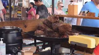 London Street Food: Woodfired Pizza, German Sausages, English roast in Greenwich thumbnail