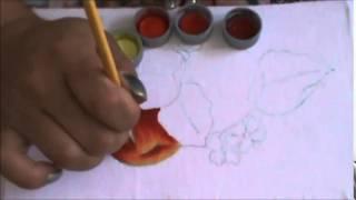 Como pintar maçã vermelha – pintura em tecido – Cristina Ribeiro