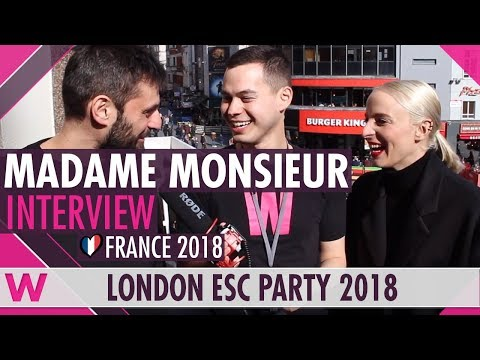 Madame Monsieur (France 2018) Interview | London Eurovision Party 2018