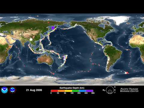 Animation of Earthquakes 2001-2015