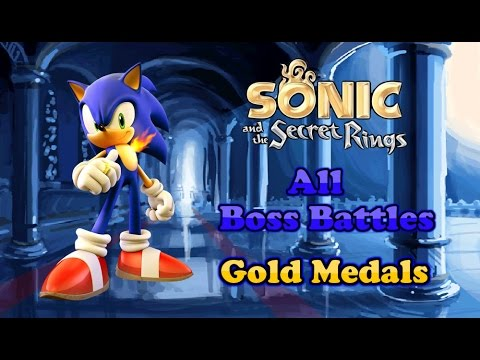 Sonic and the Secret Rings - Gold Medal Boss Run - All Bosses/No Damage - Crest of Fire