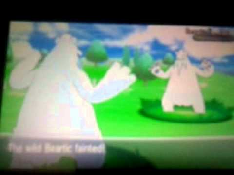 Pokemon X Shiny Beartic - Friend Safari - YouTube