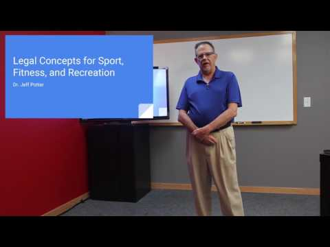 Legal Concepts for Sport, Fitness and Recreation (Non-CEU)