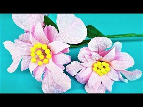 How To Make Paper Flora   Crafty Paper Flower Making   Paper Flora Decor Your Room   DIY Paper Flora