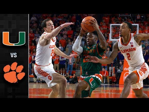 Miami vs. Clemson Basketball Highlights (2017-18)