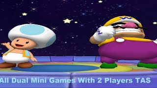 Mario Party 6 JPN - All Dual Mini Games with 2 players [TAS]