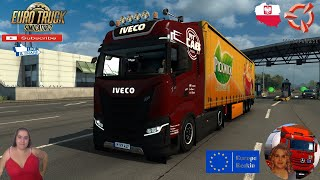 """Euro Truck Simulator 2 (1.38 Open Beta)   Iveco S-Way 2020 v2.5 by HBB Store New Dashboard Krakow to Katowice Poland Revisiting v1.38 Kogel Trailer by TZ Express FMOD ON and Open Windows Europe Reskin v1.0 by Mirfi Naturalux Graphics and Weather Test Gameplay ITA + DLC's & Mods  SCS Software News Iberian Peninsula Spain and Portugal Map DLC Planner...2020 https://www.youtube.com/watch?v=NtKeP0c8W5s Euro Truck Simulator 2 Iveco S-Way 2020 https://www.youtube.com/watch?v=980Xdbz-cms&t=56s  #TruckAtHome #covid19italia Euro Truck Simulator 2    Road to the Black Sea (DLC)    Beyond the Baltic Sea (DLC)   Vive la France (DLC)    Scandinavia (DLC)    Bella Italia (DLC)   Special Transport (DLC)   Cargo Bundle (DLC)   Vive la France (DLC)    Bella Italia (DLC)    Baltic Sea (DLC)   American Truck Simulator New Mexico (DLC) Oregon (DLC) Washington (DLC) Utah (DLC)     I love you my friends Sexy truck driver test and gameplay ITA  Support me please thanks Support me economically at the mail vanelli.isabella@gmail.com  Roadhunter Trailers Heavy Cargo  http://roadhunter-z3d.de.tl/ SCS Software Merchandise E-Shop https://eshop.scssoft.com/  Euro Truck Simulator 2 http://store.steampowered.com/app/227... SCS software blog  http://blog.scssoft.com/  Specifiche hardware del mio PC: Intel I5 6600k 3,5ghz Dissipatore Cooler Master RR-TX3E  32GB DDR4 Memoria Kingston hyperX Fury MSI gtx 970 Twin Frozr Gaming 4gb ddr5 Asus Maximus VIII Ranger Gaming Cooler master Gx750 SanDisk SSD PLUS 240GB  HDD WD Blue 3.5"""" 64mb SATA III 1TB Corsair Mid Tower Atx Carbide Spec-03 Xbox 360 Controller Windows 10 pro 64bit"""