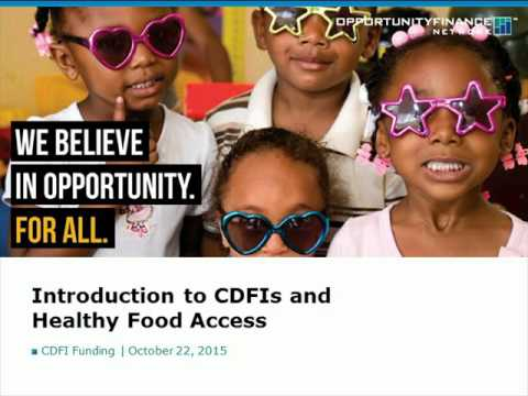 CDFI Funding for CED/CED-HFFI Projects