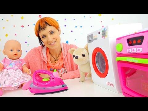 Видео для детей. #веселаяшкола. Маша #капукикануки, кукла БЕБИ БОН Эмили и бытовая техника
