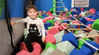 Indoor Playground Play Area with Slides & Trampoline +More Nursery Rhymes Kids Songs