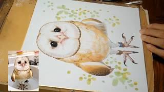 メンフクロウの似顔絵