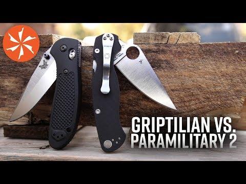 Benchmade Griptilian Vs. Spyderco Paramilitary 2 Featuring the Hogue EX03: At KnifeCenter