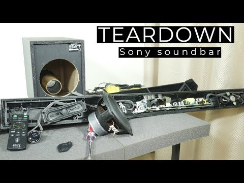 Look inside Sony soundbar with subwoofer - What's Inside?
