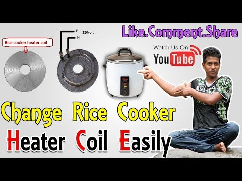 Rice Cooker Coil Changing Video   Not Heating Problem 2018  See Video & Save Money   Rs Electro Tech