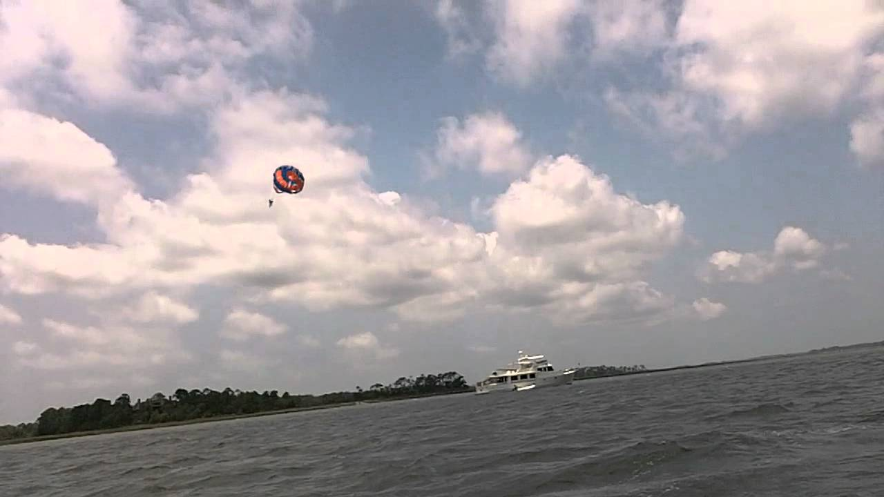 Parasailing At Folly Beach