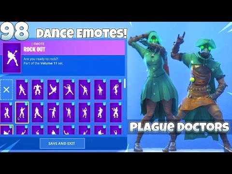 NEW! PLAGUE DOCTOR SKINS With ALL DANCE EMOTES! (Showcase) Fortnite Battle Royale