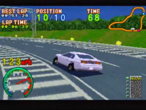 Highway 2000 Game Sample  Sega Saturn
