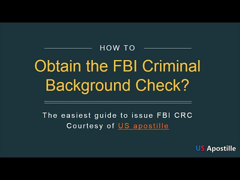 How to obtain a criminal background check?