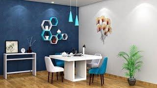 Simple Dining Room Color Ideas | Dining Room Chair Designs | Interior Design Living Cum Dining Room