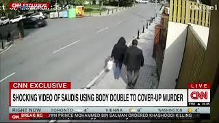 بالفيديو.. مشتبه به يخرج من القنصلية وهو يرتدي ملابس خاشقجي